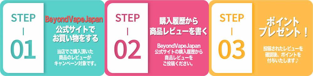 Beyond Vape Japan レビュー方法
